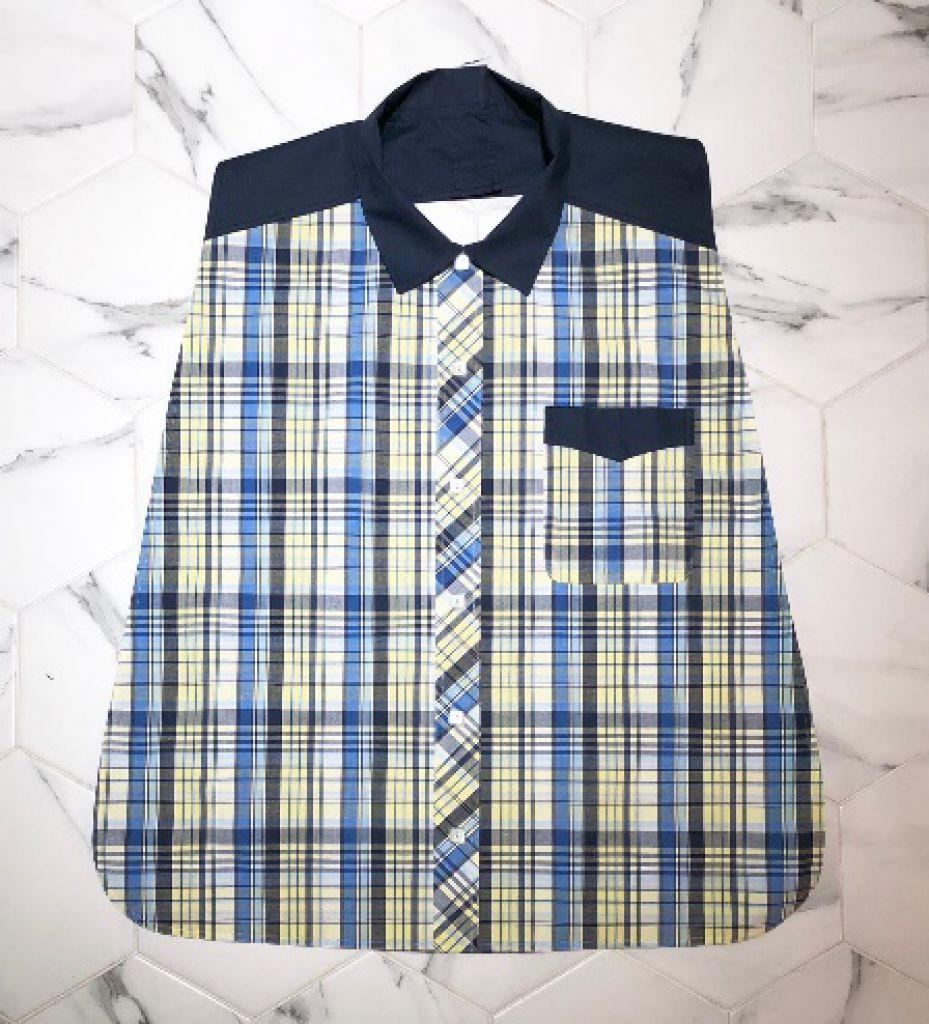 男裝恤衫款口水肩 (兩色可選)-1