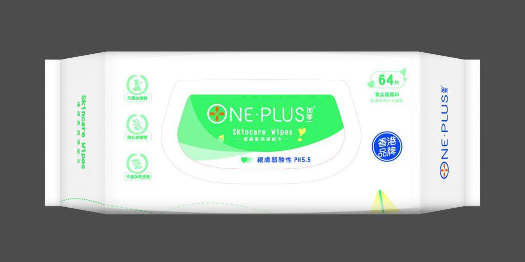One Plus 加零一親膚柔潤濕紙巾 (30 x 22 cm)